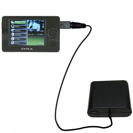AA Battery Pack Charger compatible with the RCA X3030 LYRA Media Player