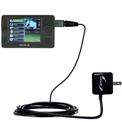 Wall Charger compatible with the RCA X3030 LYRA Media Player