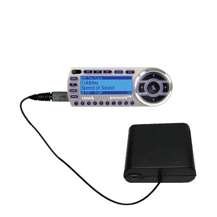 AA Battery Pack Charger compatible with the Sirius StarMate ST2