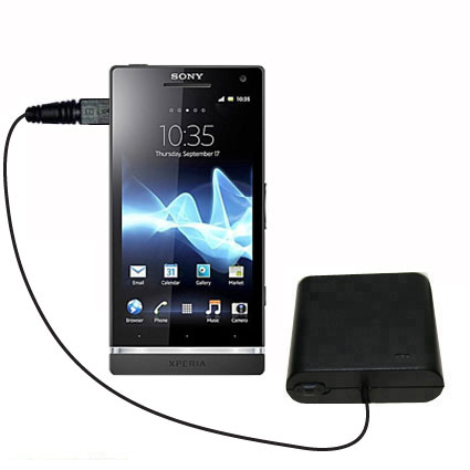 AA Battery Pack Charger compatible with the Sony Ericsson Xperia S