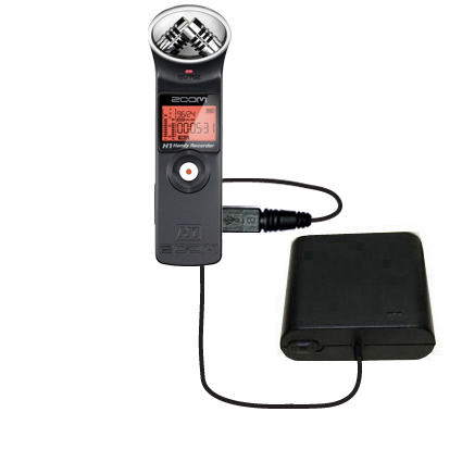 AA Battery Pack Charger compatible with the Zoom H1