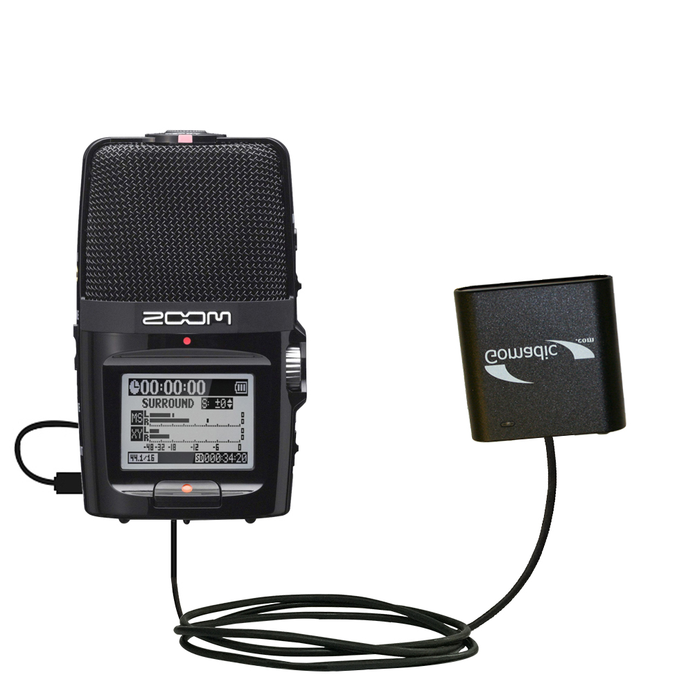 AA Battery Pack Charger compatible with the Zoom H2n