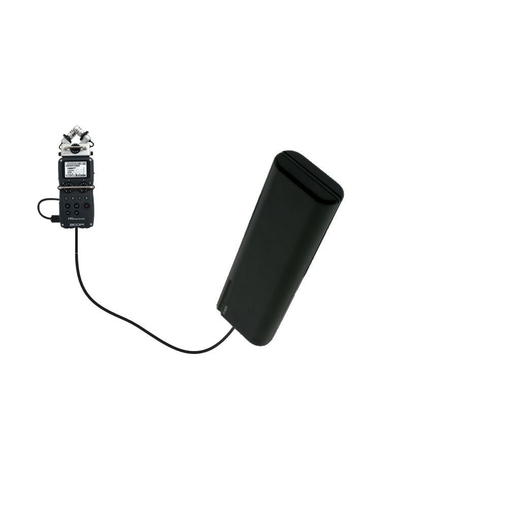 AA Battery Pack Charger compatible with the Zoom H5 Handy Recorder