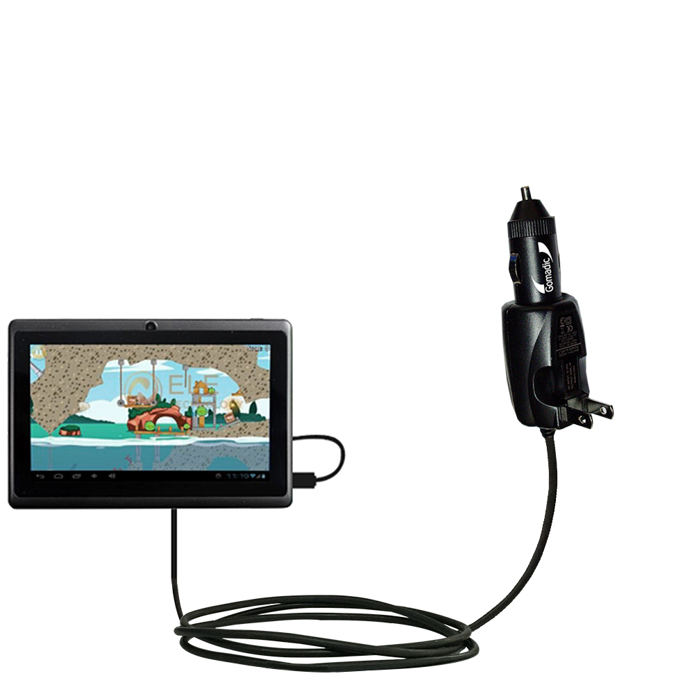 Car & Home 2 in 1 Charger compatible with the Android Allwinner A13