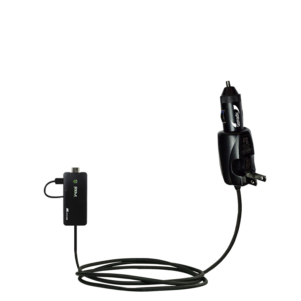 Car & Home 2 in 1 Charger compatible with the Android Rikomagic MK802 II III IIIs Mini PC