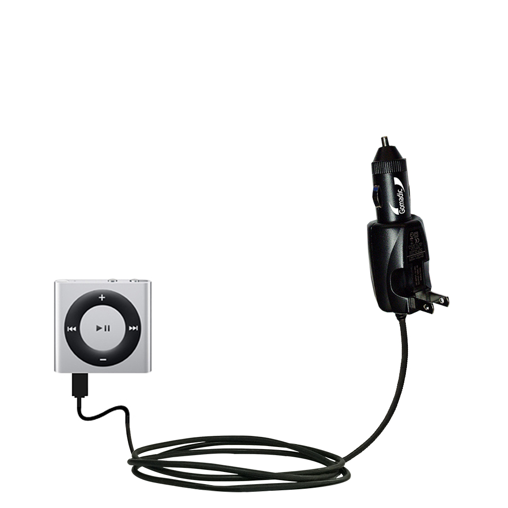 Car & Home 2 in 1 Charger compatible with the Apple Shuffle