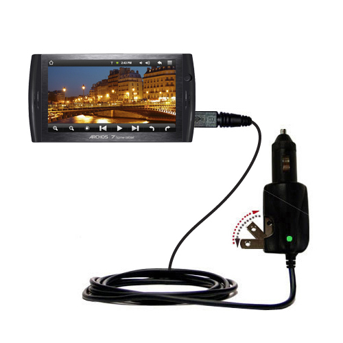 Car & Home 2 in 1 Charger compatible with the Archos 7 Home Tablet with Android