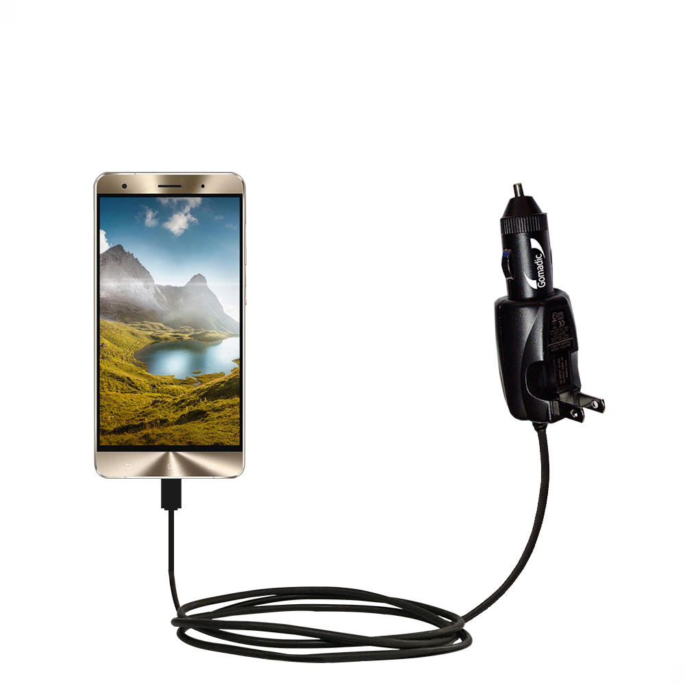 Car & Home 2 in 1 Charger compatible with the Asus Zenfone 3 Deluxe