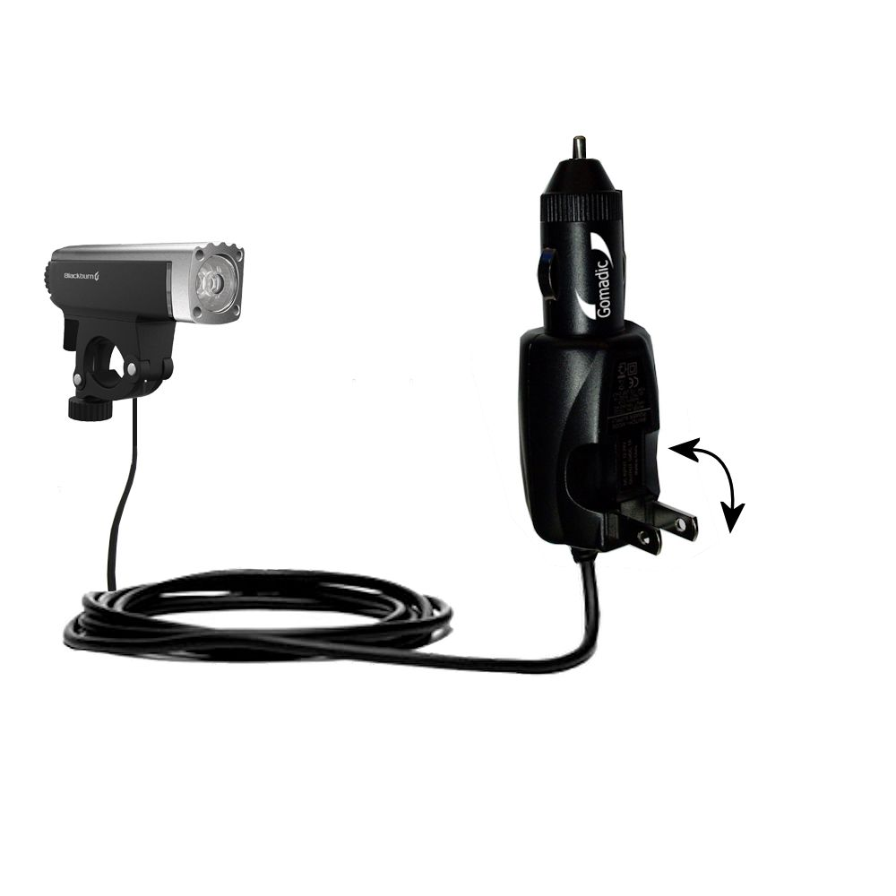 Car & Home 2 in 1 Charger compatible with the Blackburn Central Front