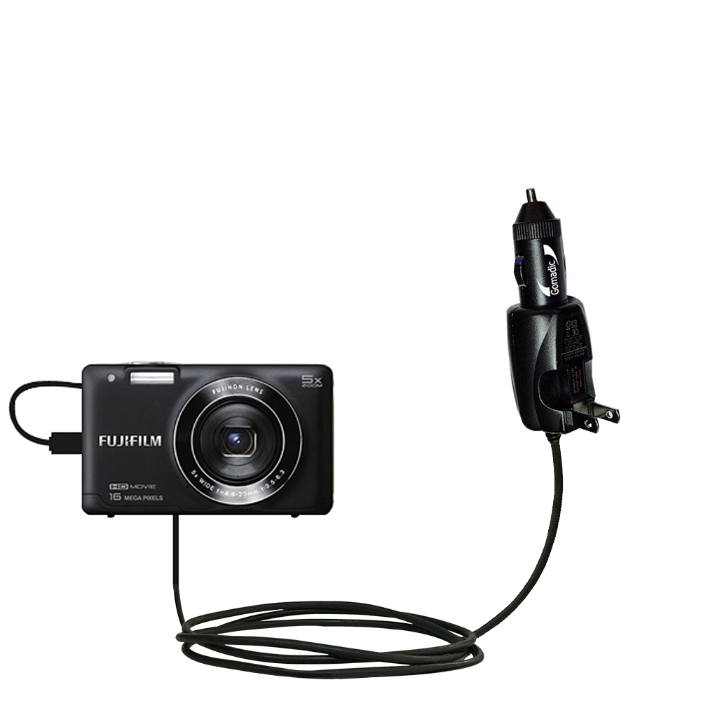 Gomadic compact and retractable USB Charge cable for Fujifilm Finepix T550//T560 USB Power Port Ready design and uses TipExchange