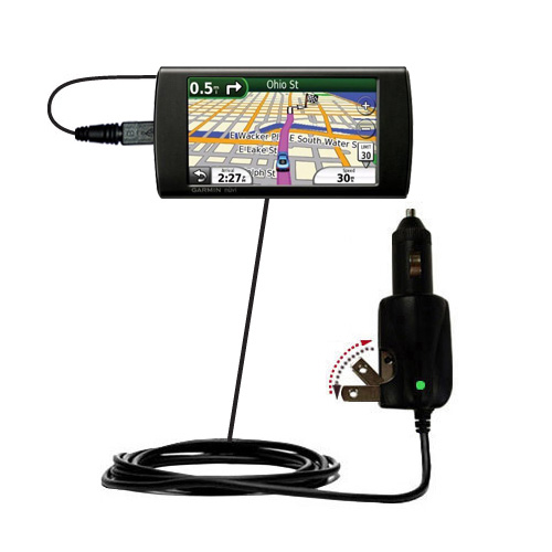 Car & Home 2 in 1 Charger compatible with the Garmin 295W