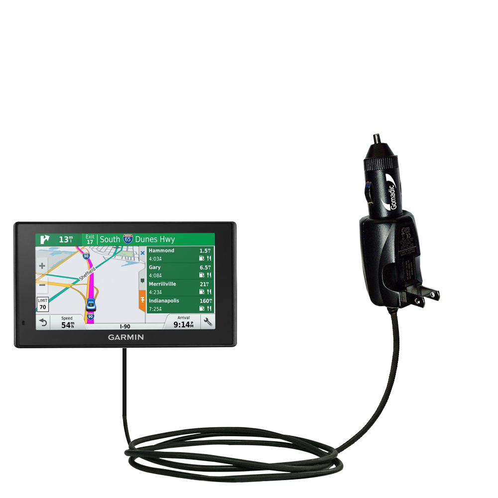 Car & Home 2 in 1 Charger compatible with the Garmin DriveSmart 70LMT