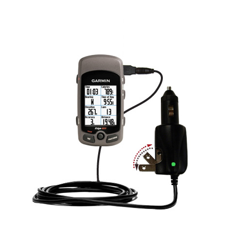 Car & Home 2 in 1 Charger compatible with the Garmin Edge