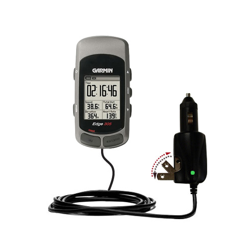 Car & Home 2 in 1 Charger compatible with the Garmin Edge 305