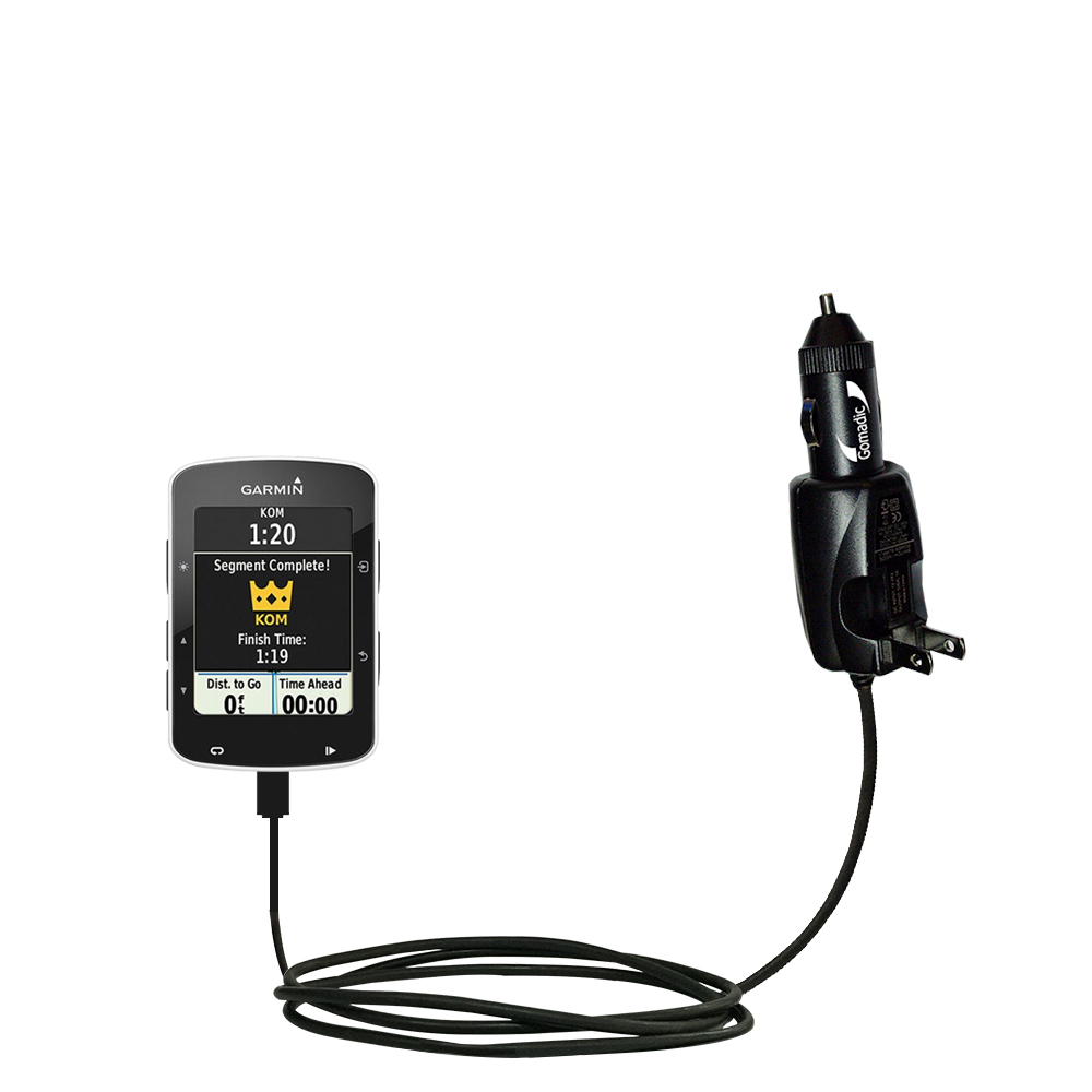 Car & Home 2 in 1 Charger compatible with the Garmin EDGE 520