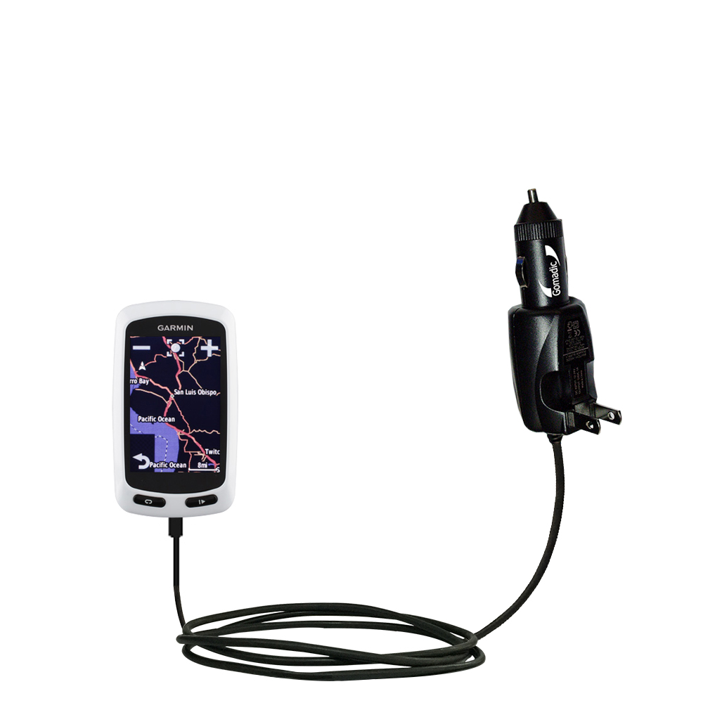 Car & Home 2 in 1 Charger compatible with the Garmin EDGE Touring