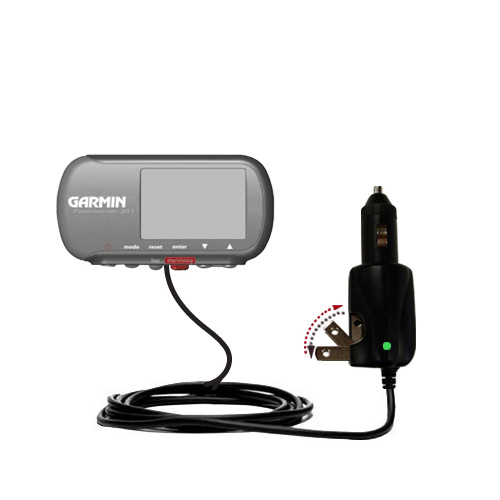 Car & Home 2 in 1 Charger compatible with the Garmin Forerunner 301