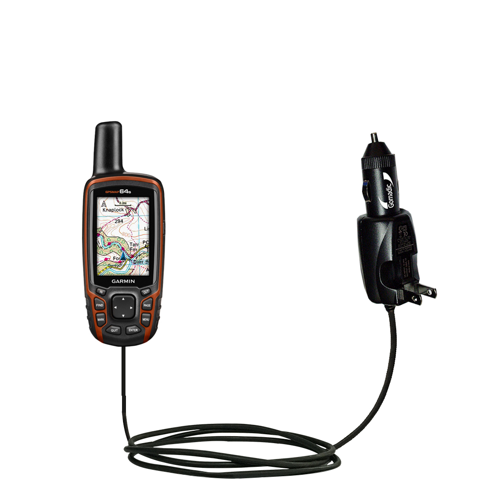 Car & Home 2 in 1 Charger compatible with the Garmin GPSMAP 64 / 64s / 64st