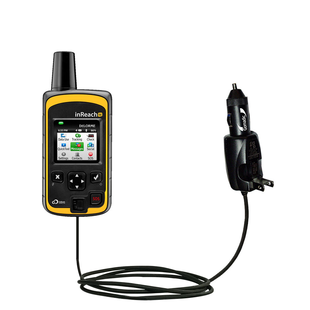 Car & Home 2 in 1 Charger compatible with the Garmin inReach SE+