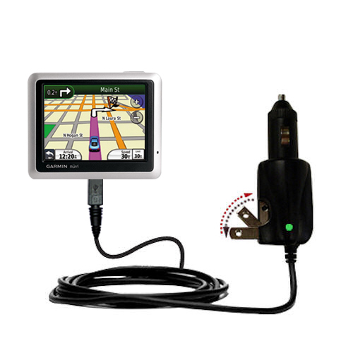 Car & Home 2 in 1 Charger compatible with the Garmin Nuvi 1200 1210