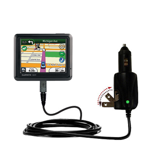 Car & Home 2 in 1 Charger compatible with the Garmin Nuvi 1260T
