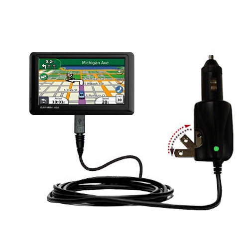 Car & Home 2 in 1 Charger compatible with the Garmin Nuvi 1490T