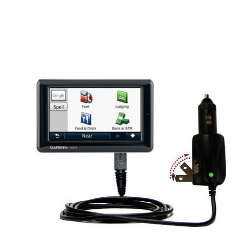 Car & Home 2 in 1 Charger compatible with the Garmin Nuvi 1690 1695