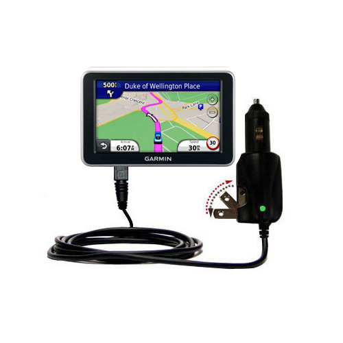 Car & Home 2 in 1 Charger compatible with the Garmin Nuvi 2310