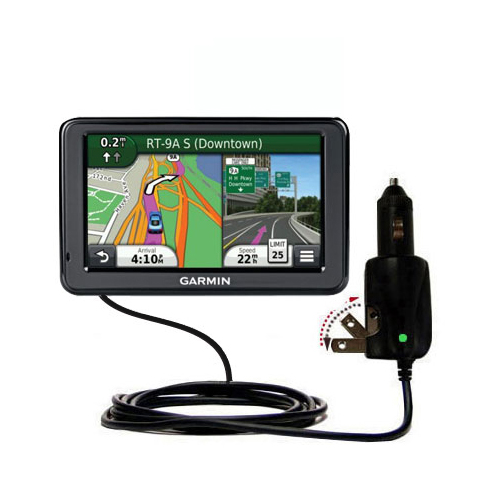 Car & Home 2 in 1 Charger compatible with the Garmin Nuvi 2455 2475LT 2495LMT 2455LMT