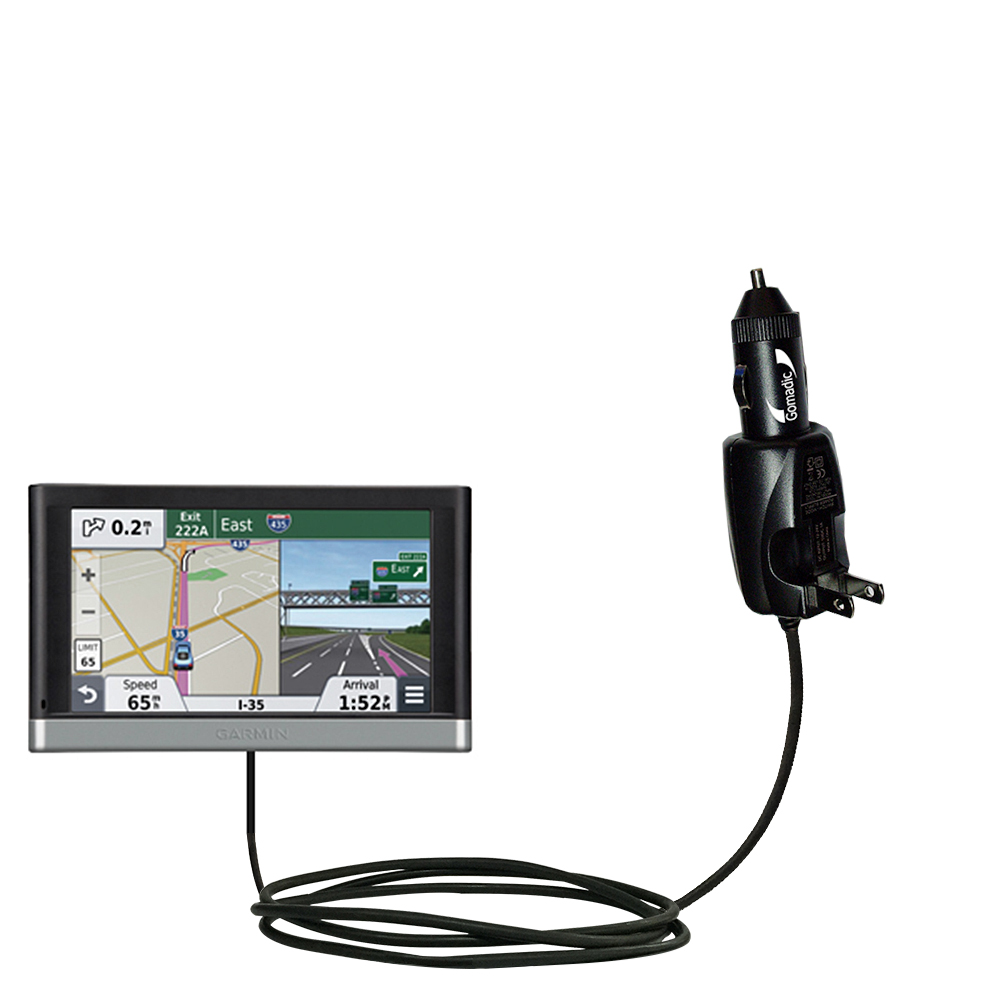 Car & Home 2 in 1 Charger compatible with the Garmin nuvi 2557 / 2577 / 2597 LMT