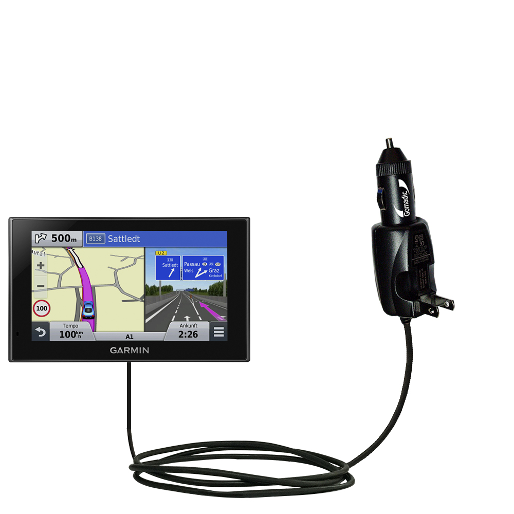 Car & Home 2 in 1 Charger compatible with the Garmin nuvi 2789 LMT
