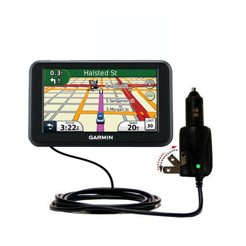 Car & Home 2 in 1 Charger compatible with the Garmin Nuvi 40 40LM