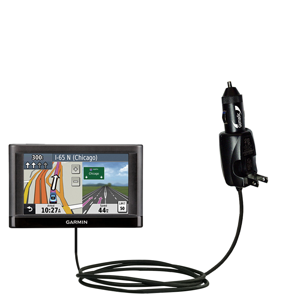 Car & Home 2 in 1 Charger compatible with the Garmin nuvi 44