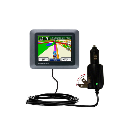 Car & Home 2 in 1 Charger compatible with the Garmin nuvi 510