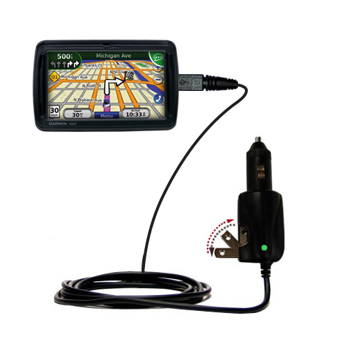 Car & Home 2 in 1 Charger compatible with the Garmin Nuvi 855