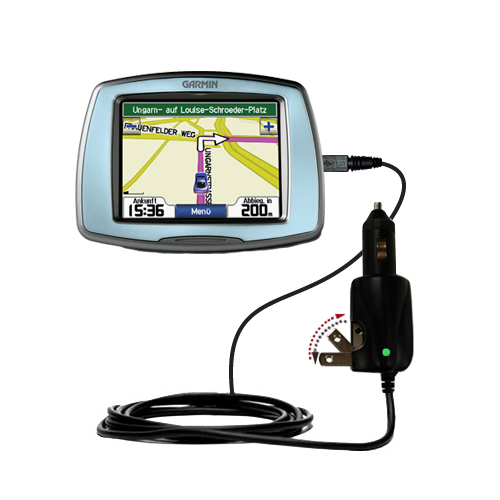 Car & Home 2 in 1 Charger compatible with the Garmin StreetPilot C530