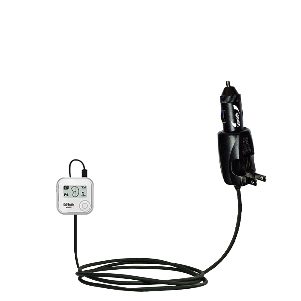 Car & Home 2 in 1 Charger compatible with the Golf Buddy Voice GPS Rangefinder