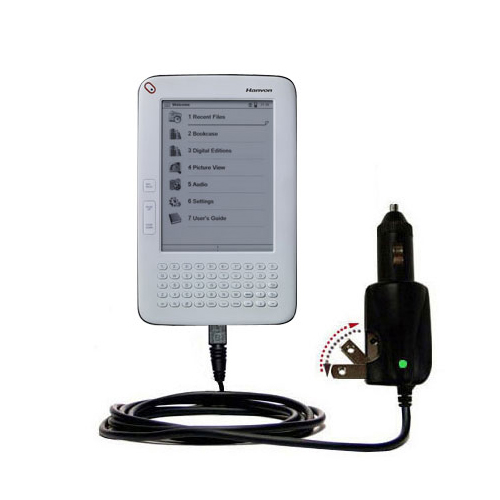 Car & Home 2 in 1 Charger compatible with the Hanvon WISEreader B630