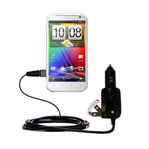 Car & Home 2 in 1 Charger compatible with the HTC Bliss