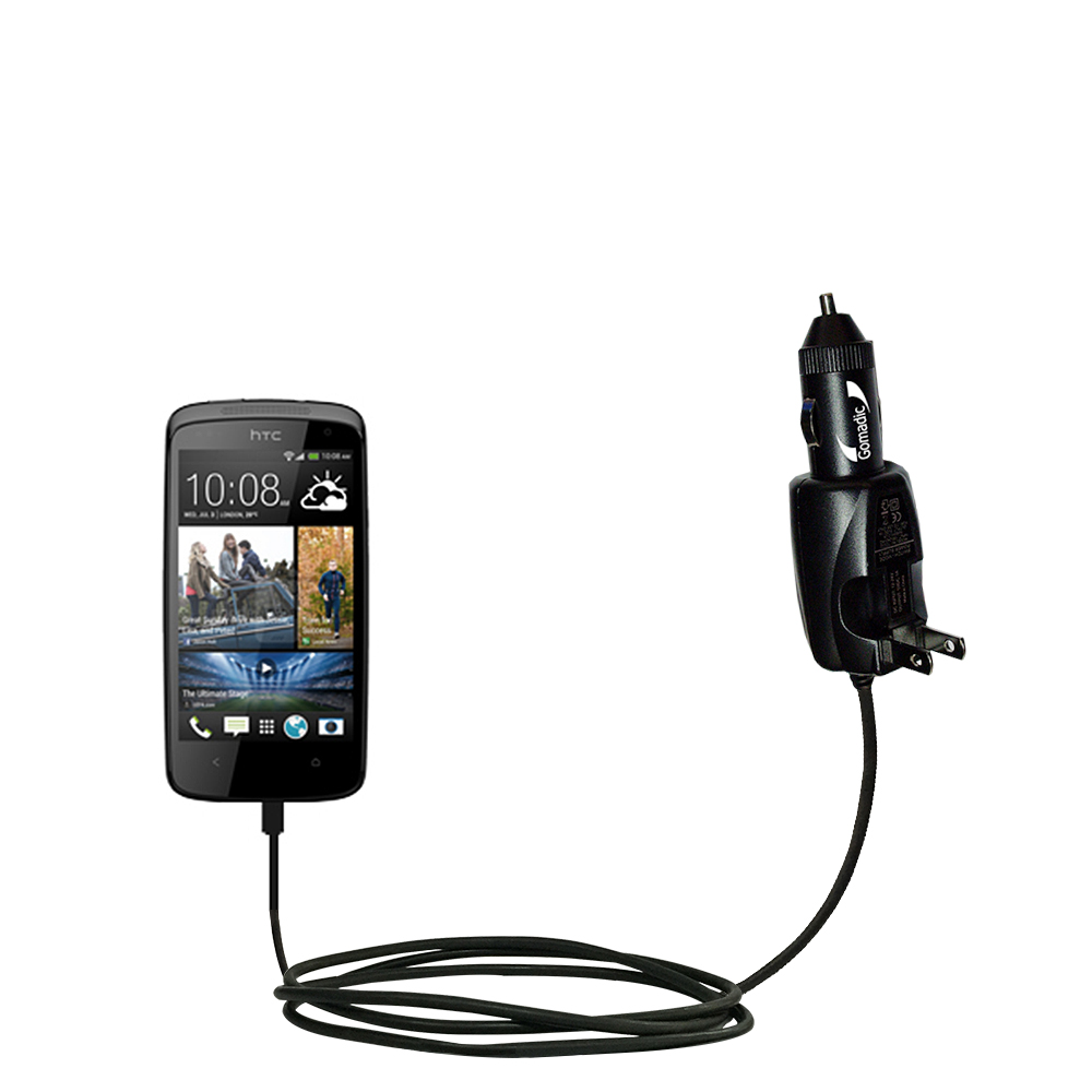 Car & Home 2 in 1 Charger compatible with the HTC Desire 500