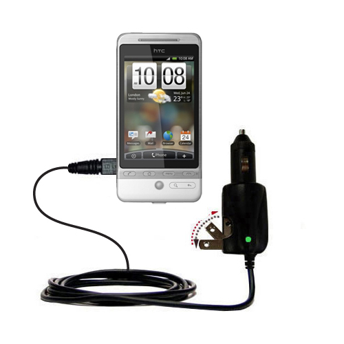 Car & Home 2 in 1 Charger compatible with the HTC Hero 4G