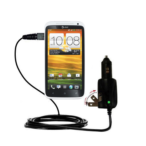 Car & Home 2 in 1 Charger compatible with the HTC One X