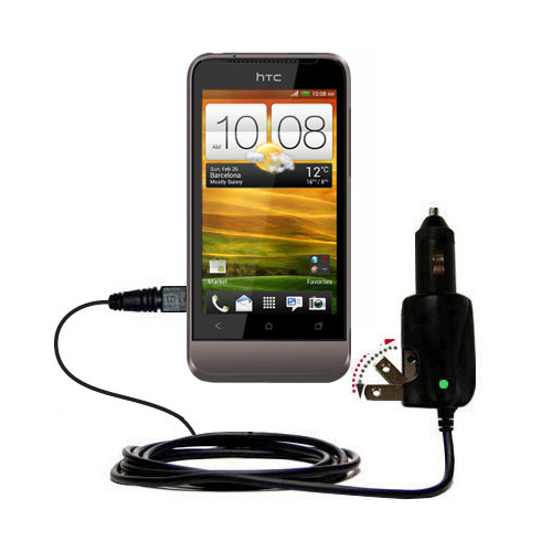 Car & Home 2 in 1 Charger compatible with the HTC Primo / T320e
