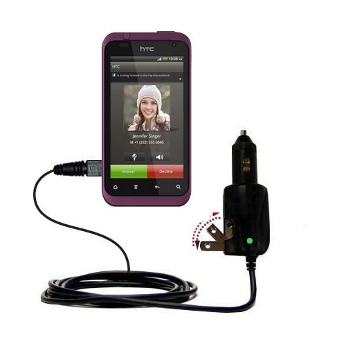 Car & Home 2 in 1 Charger compatible with the HTC Rhyme