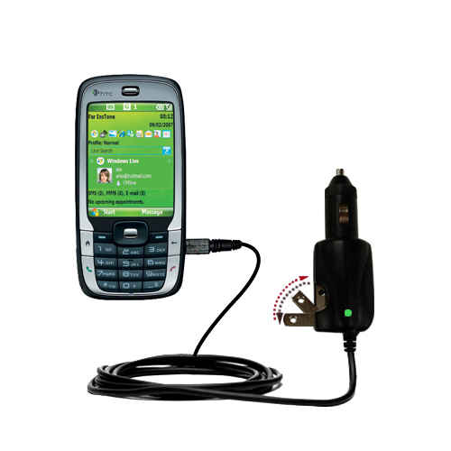 Car & Home 2 in 1 Charger compatible with the HTC S710