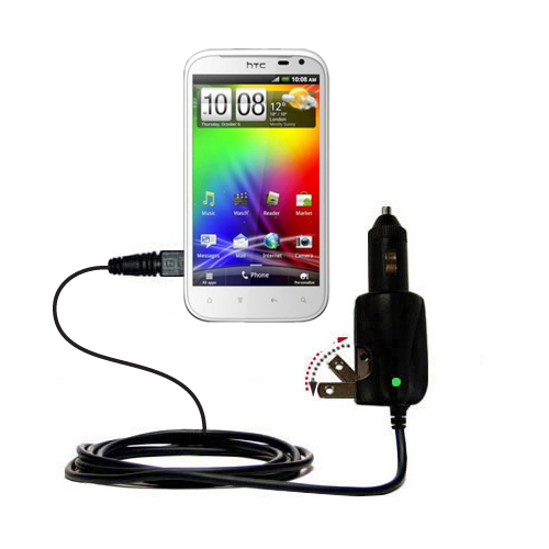 Car & Home 2 in 1 Charger compatible with the HTC Sensation XL