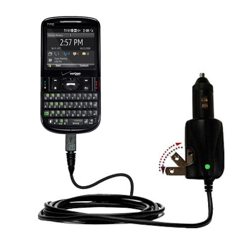 Car & Home 2 in 1 Charger compatible with the HTC XV6175