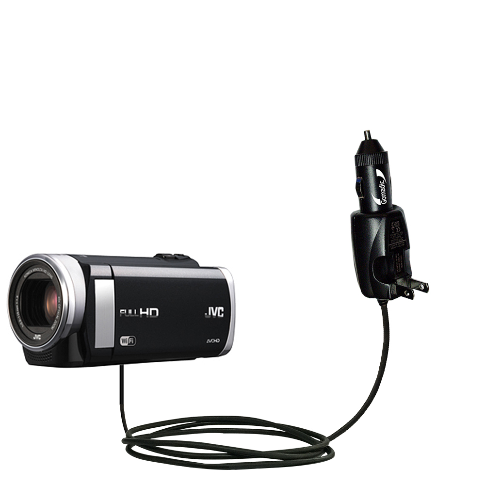 Car & Home 2 in 1 Charger compatible with the JVC Everio GZ-EX210 / GZ-EX250