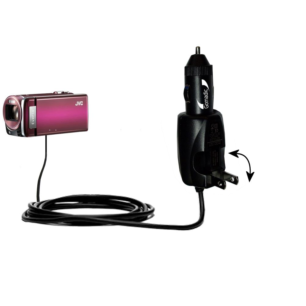 Car & Home 2 in 1 Charger compatible with the JVC Everio GZ-HM880 / HM890