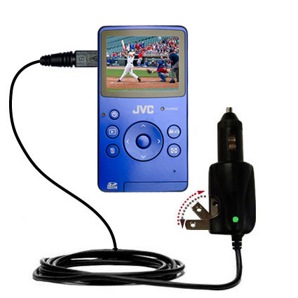 Car & Home 2 in 1 Charger compatible with the JVC Picsio GC-FM1 Pocket  Video Camera